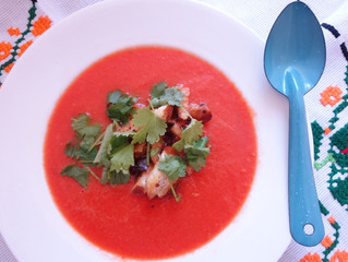 Watermelon-­Gazpacho with Coriander  – Perfect for Hot Summer Days!