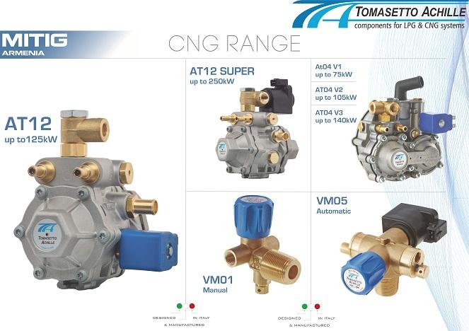Tomasetto CNG Range