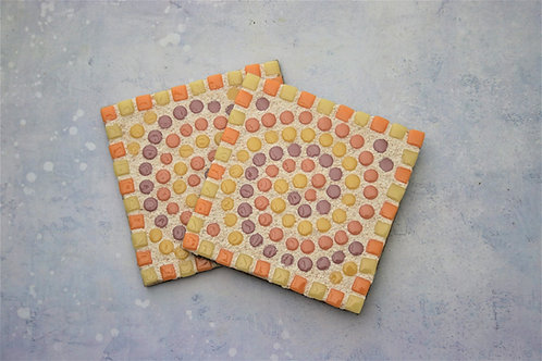 mosaic coaster craft kit yellow
