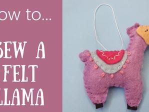 How to... Sew a Felt Llama