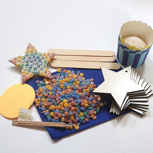 Mosaic Stars Craft Party Pack
