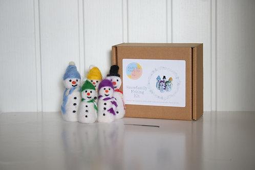 Snowman Needle Felting Craft Kit