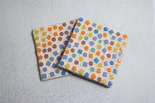 Rainbow Mosaic Coaster Craft Kit