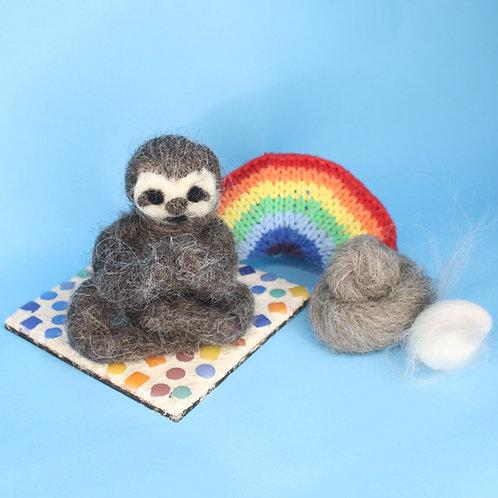 Yoga Sloth Needle Felting Kit