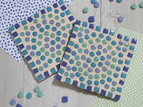 Blue Mosaic Coaster Kit