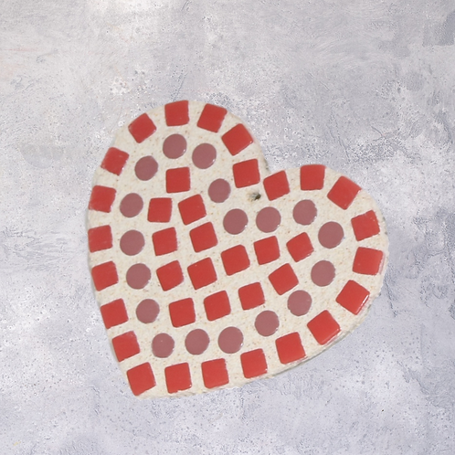 Red Mosaic Heart Kit