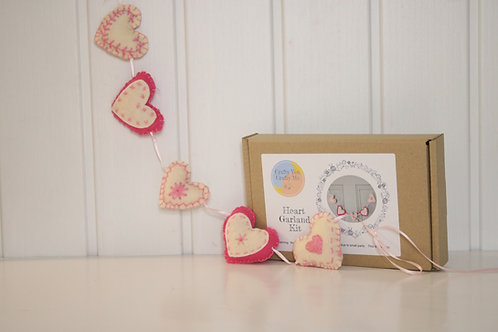 Valentines heart garland craft kit