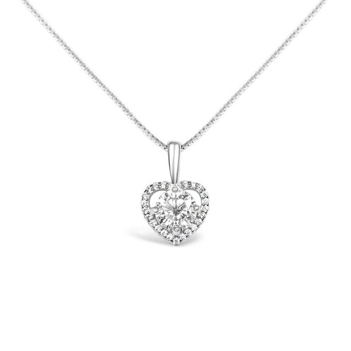 Moissanite necklace 1.1ctw