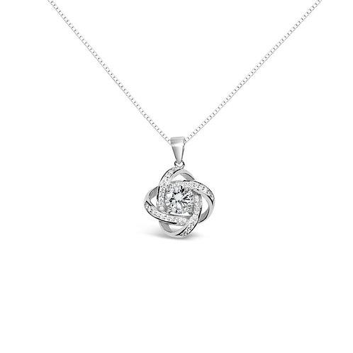 Moissanite necklace 1.1ctw