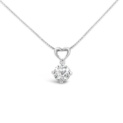 Moissanite necklace 1ct