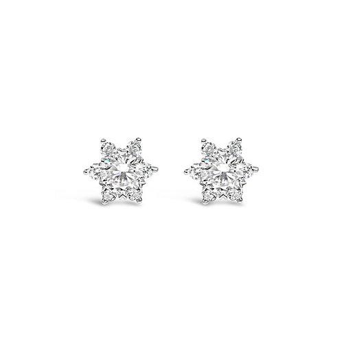 Moissanite earrings (1.2ctw)