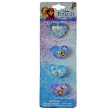 Frozen 4 Shaped Plastic Rings