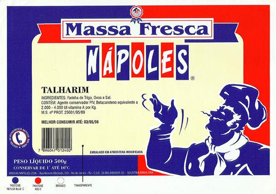 Embalagem para Talharim Massa fresca.