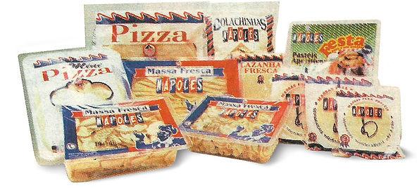 Embalagens de produtos Massas Nápoles