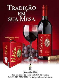Anúncio para o Vinho Aldeão
