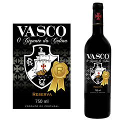 rótulo para vinho do Vasco