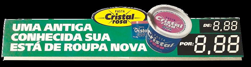 Pasta Cristal - Faixa para prateleira