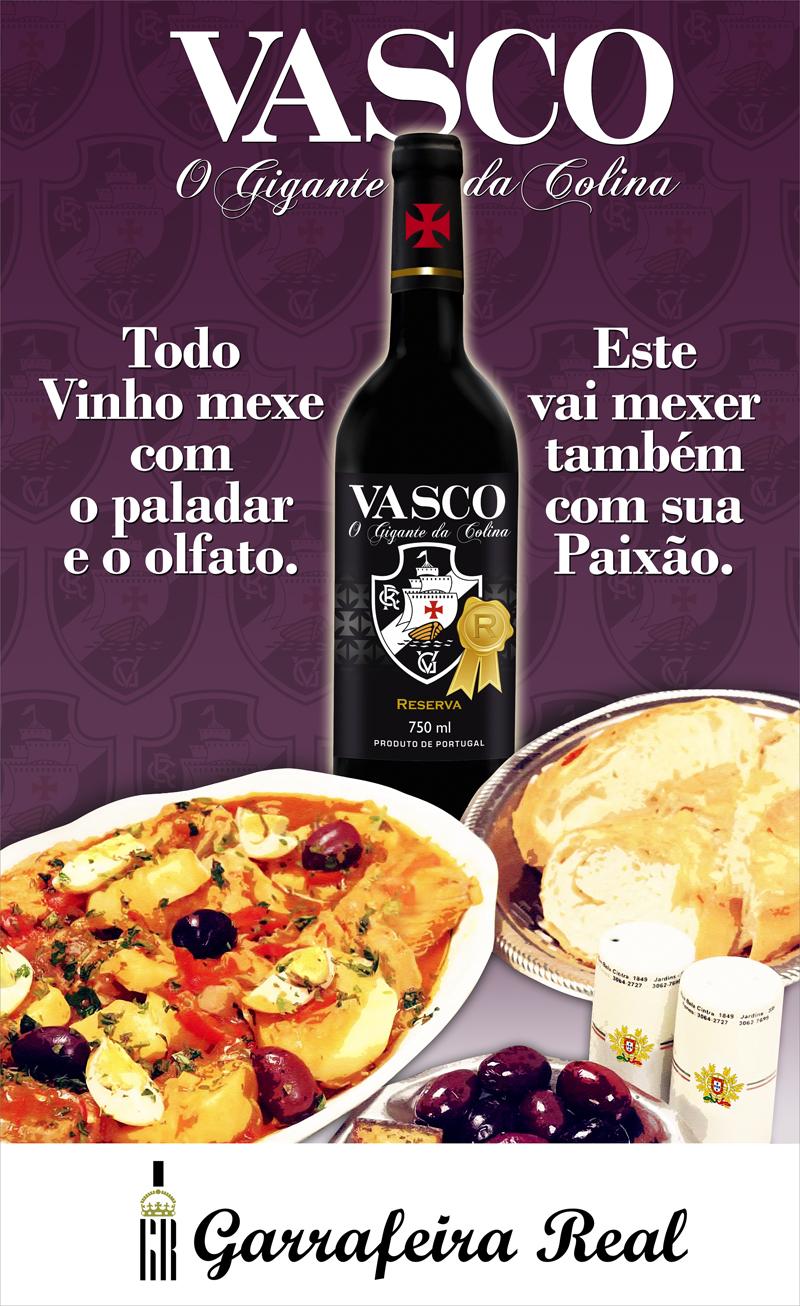 Peça de divulgação do vinho do Vasco