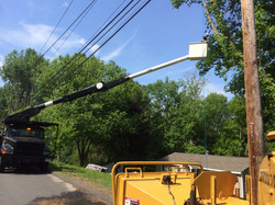 Working underneath the power lines