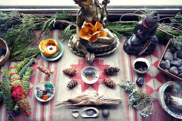 Personal altar.