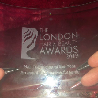 London Nail tech of the year 2019