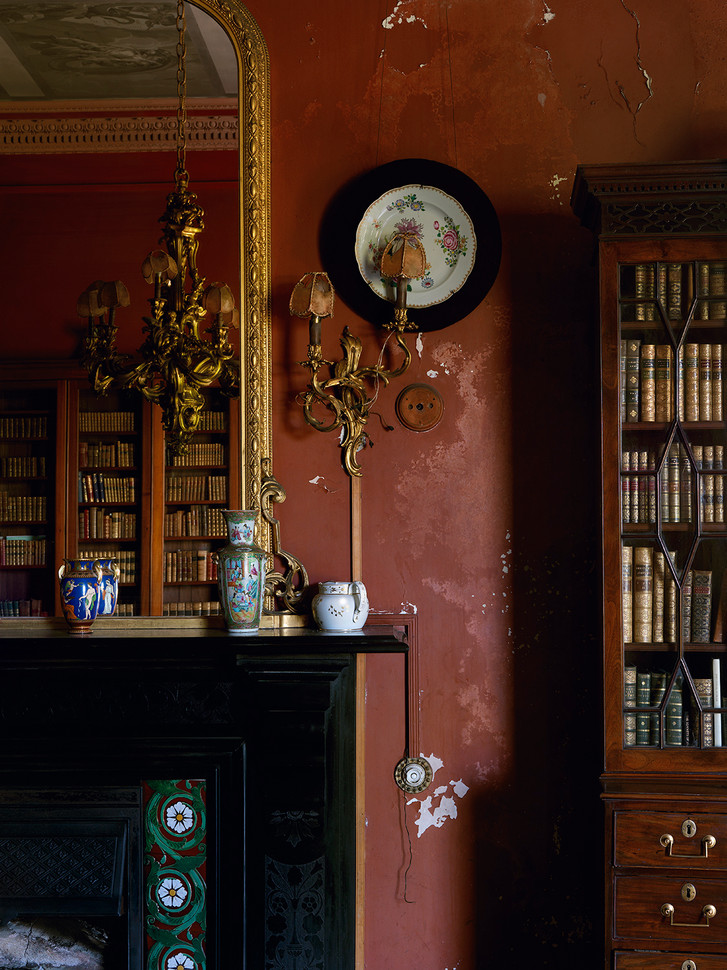Black Fireplace & Bookcase Detail, Ireland