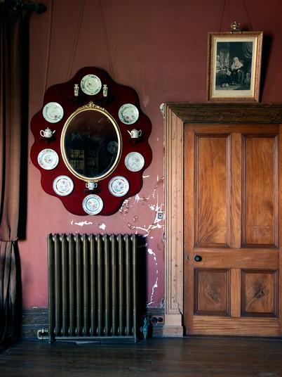 Room Detail with Radiator, Mirror & Door Detail, Ireland