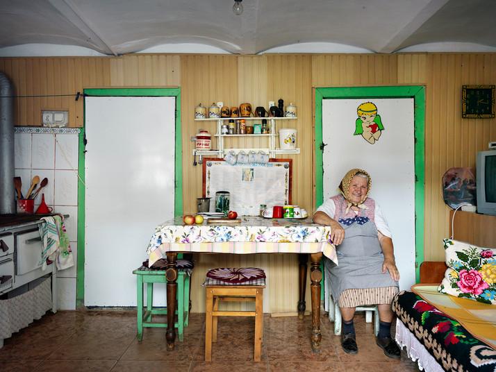 Mrs Hudea in her Kitchen