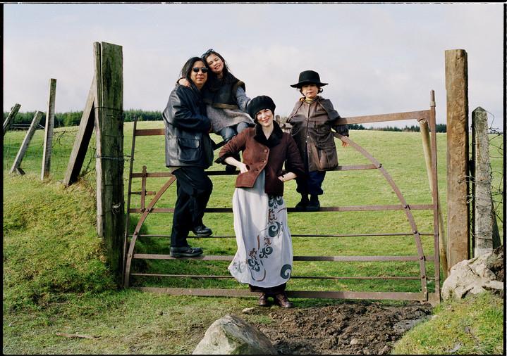 The Rochas, John,Odette,Simone&Max in 1995 for Elle