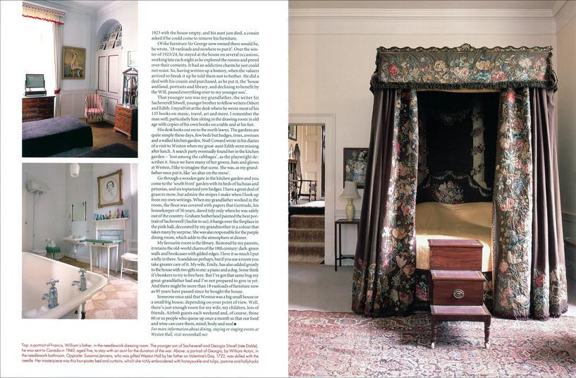 World of Interiors September 2019, Weston Hall