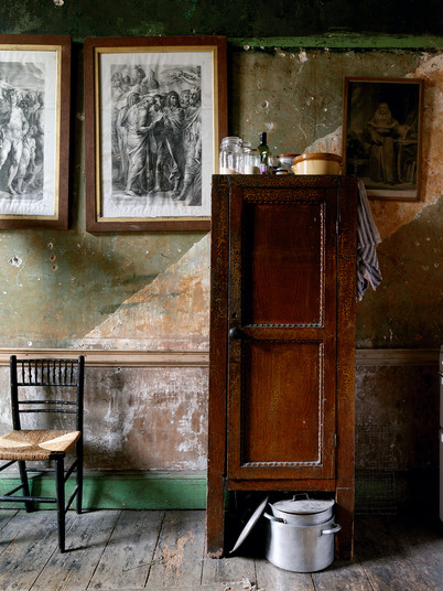 Kitchen Cupboard with Chair & Pan, Ireland