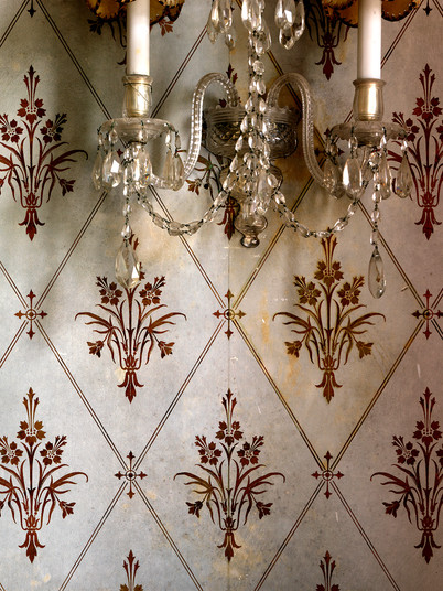 Wall Sconce & Wall Paper Detail 01,Ireland_