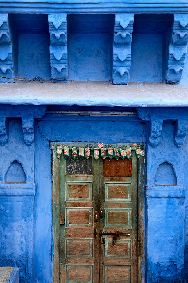 Blue wall in Rajastan