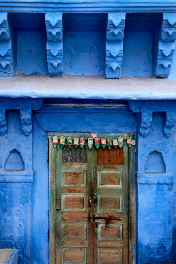 Blue wall in Rajastan