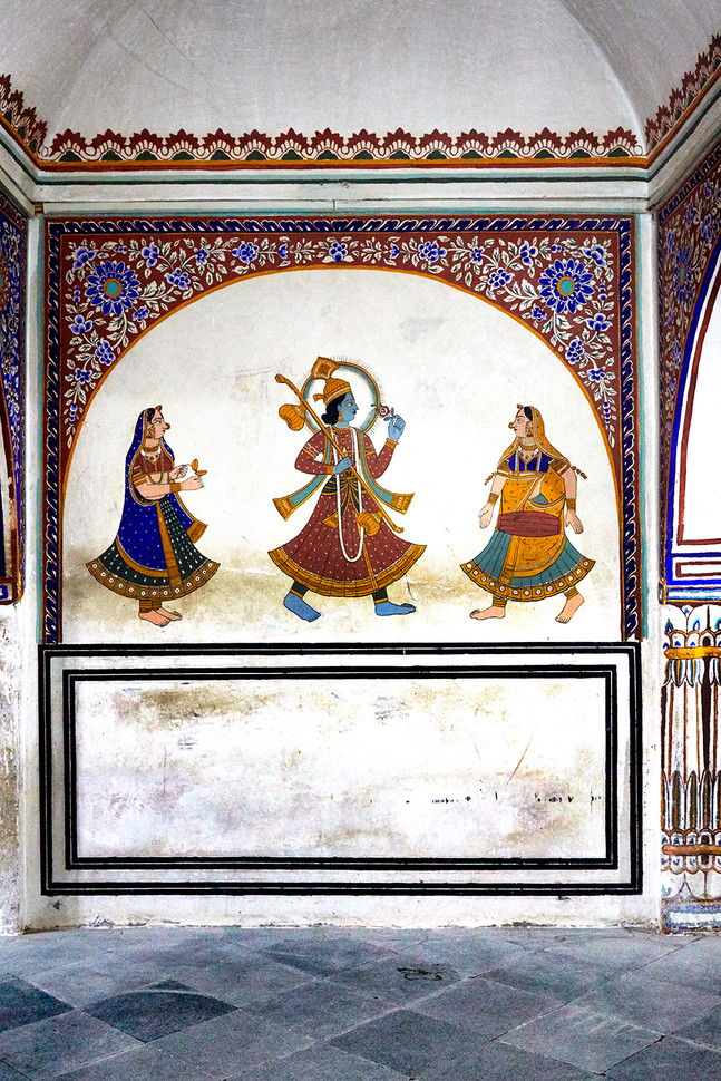 101) Haveli_Influenced_ArchwayFrescoDeta