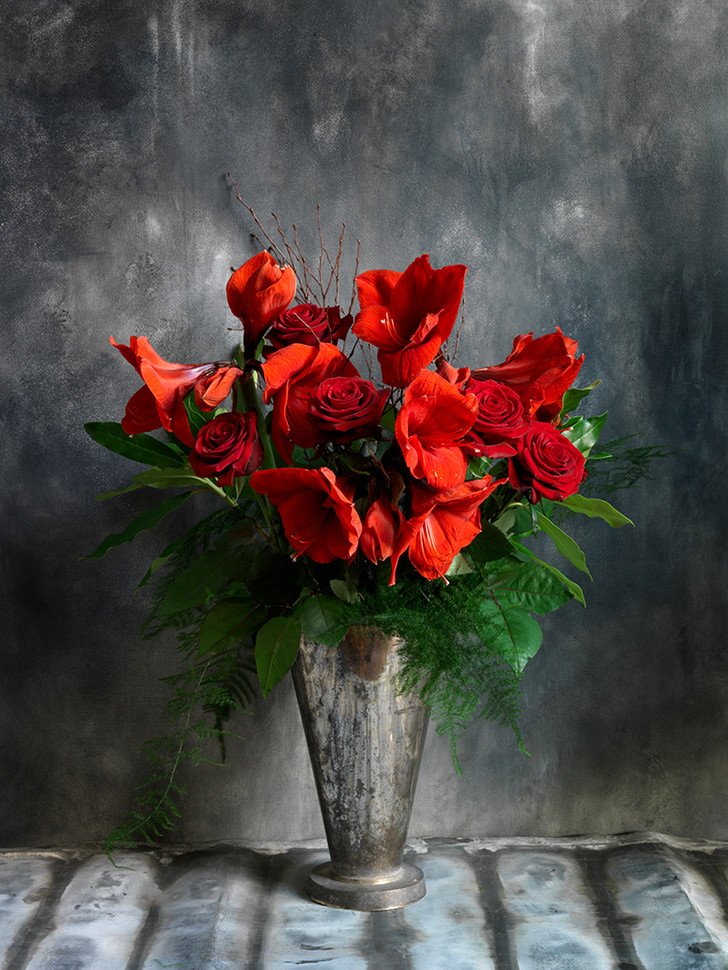 Red Rose with amaryllis