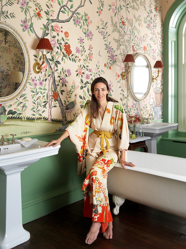 Rose Hanbury the Marchioness of Cholmondeley for De Gournay