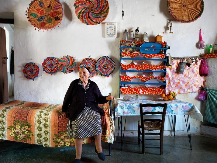 Kria Chrysolula Achilleous in her Kitchen in Droushia