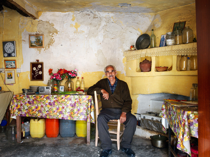 Christophis Ioannou in his House
