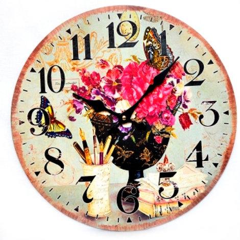 "Часы настенные ""Садовый букет"""