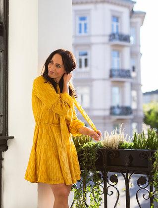 Victoria kjole gul