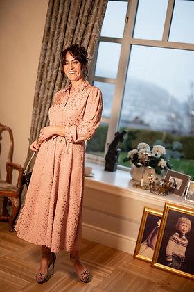 Jolin kjole midi pink