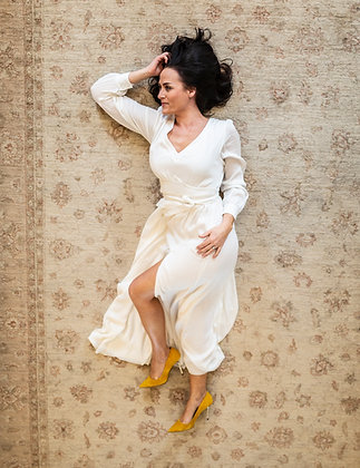 Amaia Olivia lang hvit