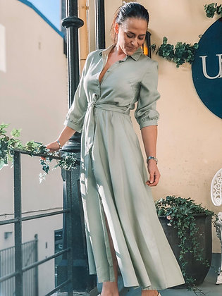 Lilly Linn midi kjole Linde