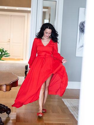 Amaia Olivia Lang rød