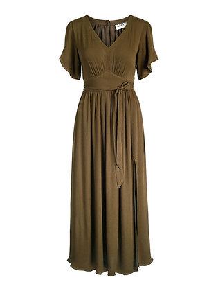 Amaia Olivia midi kjole Oliven