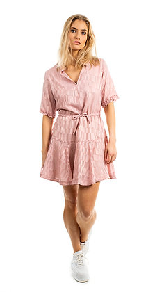Victoria C kjole shortsleeve rosa