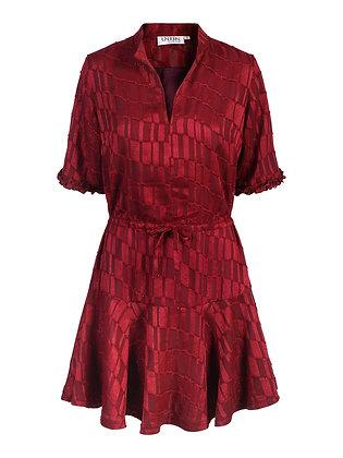 Victoria C kjole shortsleeve plomme