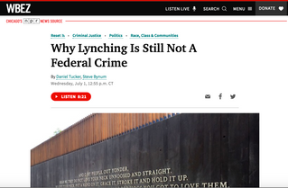 WBEZ Interview: Why Lynching Is Still Not A Federal Crime