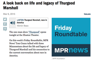 Harris interviewed on MPR about the life and legacy of Thurgood Marshall